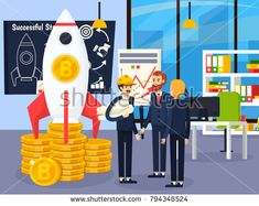 Stock Vector: Blockchain orthogonal design concept with group of young people involved in successful startup of cryptocurrency mining vector illustration Blockchain, Best Crypto, Illustration Story, Android, Isometric Design, Cartoon Styles, Cartoon Images, Crypto Currencies, Flat