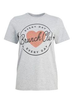 Margot Brunch Club T Shirt Grey
