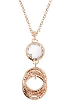 Clear Quartz Multi Circle Pendant Necklace by Milor Jewelry on @HauteLook
