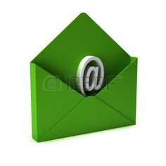 3D Contact us email Stock Photo
