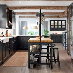 Here we've broken each kitchen down into its component parts, so when you've decided on a look, you'll easily be able to re-create it in your own home. Kitchen Utensils Store, Kitchen Sale, Kitchen Trends, Anthracite Kitchen, Industrial Kitchen Design, Ikea Kitchen Cabinets, New House Plans, Open Plan Kitchen, Beautiful Kitchens