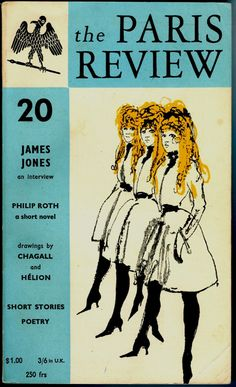 Another cover of the literary quarterly founded by Harold L. Humes, Peter Matthiessen and George Plimpton in This time with a Toulouse-Lautrec vibe - Autumn George Plimpton, Olle Eksell, Max Huber, Robert Bly, Penguin Modern Classics, James Jones, Philip Roth, Pin Up, Short Novels