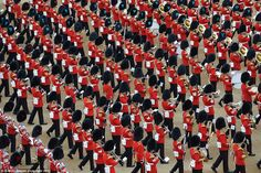 Marching band: More than 400 musicians are taking part in today's event in London alongsid...