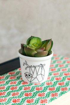 Origami Sloth Succulent