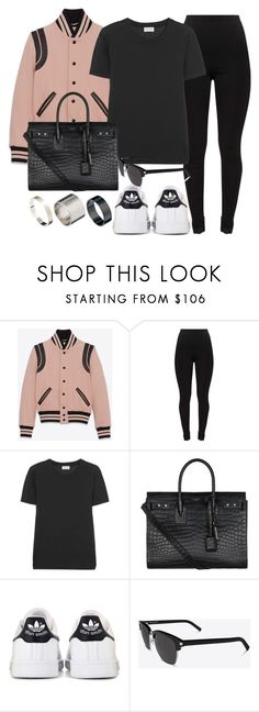 """""""#13819"""" by vany-alvarado ❤ liked on Polyvore featuring Yves Saint Laurent, adidas and Just Acces"""