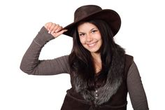 Country Girl With Hat.   http://publicdomainpictures.net  FREE PUBLIC DOMAIN PHOTO'S TO USE AS YOU LIKE.