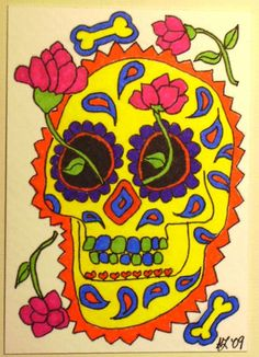 My one foray into Day of the Dead art.