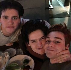 And when they had dinner with Casey Cott (Kevin) and took this one.