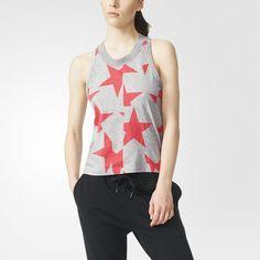 Camiseta de tirantes adidas STELLASPORT Graphic - Gris