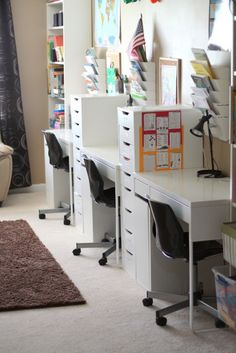 Best kids playroom organization ikea homework station ideas - Image 14 of 24 Organisation Ikea, Playroom Organization, Organizing Ideas, Kids Homework Station, Kids Homework Room, Homework Desk, Casa Kids, Ideas Dormitorios, Kids Office