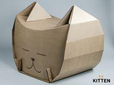 пуфик из картона