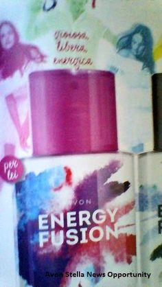 AVON C9 - Effetto SUMMER SHINE -  * VIVI qui e ORA ! *  NOVITA' PER LEI - ENERGY FUSION SOLI 6,50€ l'una   Quest'Estate condividi la Tua ENERGIA POSITIVA !  Gioiosa - Libera - Energica -   - ENERGY FUSION Eau de Toilette Spray 50 ml   con note di Pompelmo Rosa - Gelsomino - Palissandro -