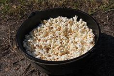 Dutch Oven Popcorn (Boys' Life) This is a great idea and scouts love it.