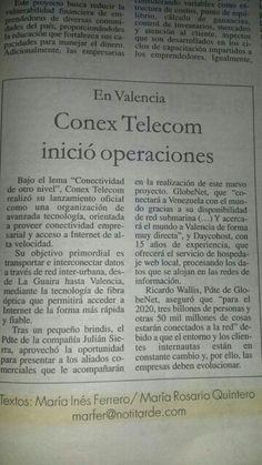 Lanzamiento de Conex Telecom