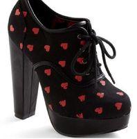 Heart boot heels