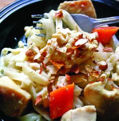 Recipe for Lemongrass Basil Chicken Pasta