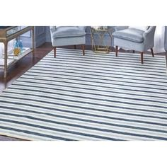 Shop for Mohawk Home Aurora Monterey Stripe Blue Area Rug (7'6 x 10'). Get free shipping at Overstock.com - Your Online Home Decor Outlet Store! Get 5% in rewards with Club O! - 17646256