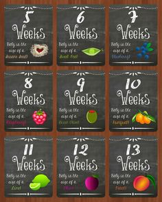 Katie's Korner: Weekly Pregnancy Chalkboard Photo Printables