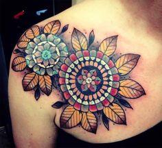 Tattoos: Worship the Spiritual Hand: Flowers on Shoulder tattoo by Aivaras Lee