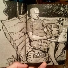 Sketch of the day #ink #drawing #art #chill #apple #sketchbook #sketch #inking