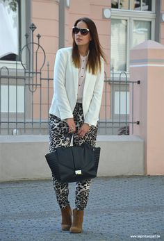 Your Outfit Today » White blazer & Tiger print, July 13 2014
