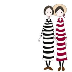 yup...my sister and I could pull off these horizontal stripes!