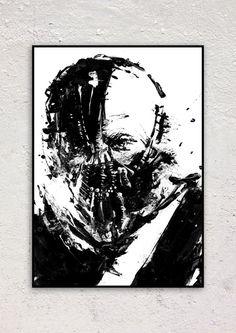 Bane Dark Knight movie poster Bane Art Acrylic by BlackraptorArt