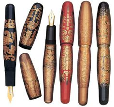 Dani Trio Maki-e Totetsu Fountain Pen Collection