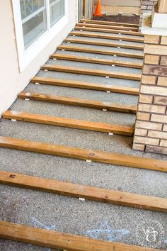 """Home Remodeling Outdoor Receive fantastic pointers on """"outdoor patio ideas"""". They are available for you on our site. - If you've ever thought about turning your cement porch into a wood deck, it's surprisingly easy! Here are some thoughts, tips, Concrete Patios, Deck Over Concrete, Concrete Porch, Porch Wood, Wood Patio, Wood Pathway, Patio Stone, Cement Patio, Flagstone Patio"""