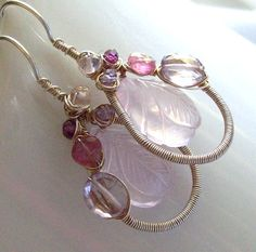 "I love the color, style, and amazing detail in these earrings from ""SparrowsJewels"" on Etsy"
