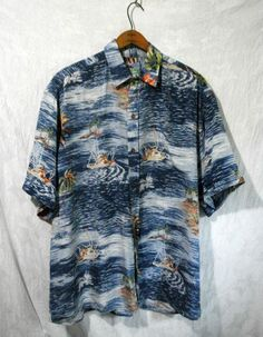 Vintage Tropical Hawaiian Aloha Camp Shirt Mens M Rayon Top by REYN SPOONER