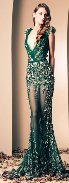 Ziad Nakad the detailing on this dress is mesmerizing and the colour combination perfection!!