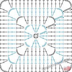 Transcendent Crochet a Solid Granny Square Ideas. Inconceivable Crochet a Solid Granny Square Ideas. Crochet Blocks, Granny Square Crochet Pattern, Crochet Stitches Patterns, Crochet Diagram, Crochet Chart, Crochet Squares, Crochet Motif, Crochet Designs, Crochet Cushions