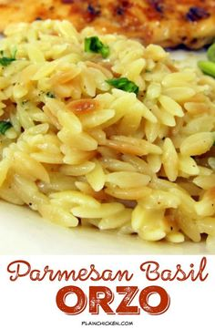 Parmesan Basil Orzo - toss the box and make this delicious side dish! orzo, chicken broth and parmesan cheese - ready in 20 minutes.: