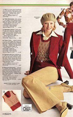 1974 Sears Fall Winter Catalog, Page 124 - Christmas Catalogs & Holiday Wishbooks 1974 Fashion, 70s Women Fashion, Seventies Fashion, 60s And 70s Fashion, Teen Fashion, Fashion Brand, Retro Fashion, Vintage Fashion, 70s Outfits