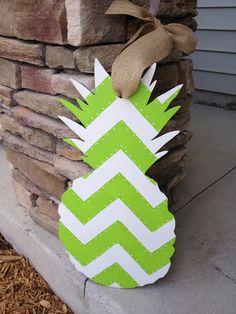 """20"""" Shabby Chic Pineapple Door Hanger, Custom Order on Etsy, $25.00"""