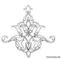 . Persian Pattern, Persian Motifs, Islamic Art Pattern, Pattern Art, Hand Embroidery Designs, Embroidery Patterns, Motifs Islamiques, Turkish Art, Islamic Art Calligraphy