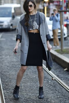 Milan Fashion Week Fall 2012 Street Style Photo 1