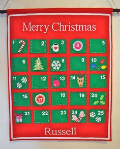 Learn how to make a gorgeous felt advent calendar to count down the days until Christmas! Each day has a pocket to place treats and activities inside. Wood Advent Calendar, Advent Calendar Activities, Christmas Calendar, Christmas Activities, Advent Calendars, Daily Activities, Christmas Countdown, Felt Christmas, All Things Christmas