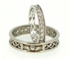 Celtic Wedding Set. Stunning selection of unique Celtic couple rings.