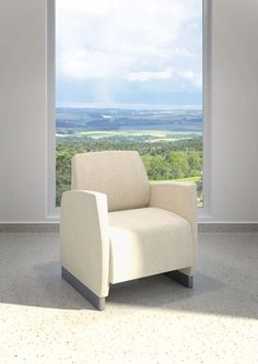 Zola Lounge for behavioral health from Krug.  Can be weighted and secured to the floor.