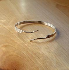 Sterling Open Cuff, Bracelet by CatsCreationsLLC on Etsy