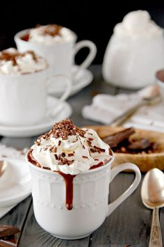 Thick spiced italian hot chocolate. The only hot chocolate I'll drink these days...