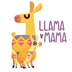 Llive, Llaugh, Llove Llike a Llama on Behance No Drama Lama, Alpacas, Baby Animals, Cute Animals, Llama Pictures, Illustration, Llama Arts, Llamas Animal, Llama Birthday