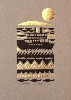 Metallic Ink on Kraft Card (Designed by Sanna Anukka)