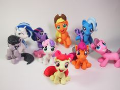 these my little pony sculptures are absolutely perfect! i must try!