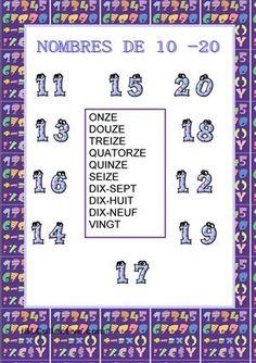 Nombres de 11 - 20