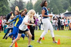 First Lady Michelle Obama Hosts Let's Move! London | It's Olympic Fever!