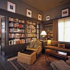Turning guest room into library/movie room. Love!