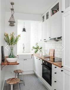 Check out this gorgeous, minimalist, tiny kitchen